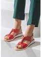 Elle Sandalet Kırmızı